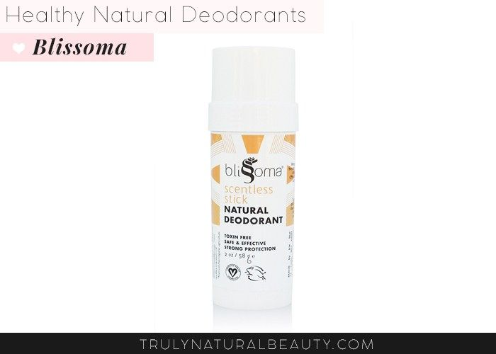 Blissoma Scentless Stick Natural Deodorant. Awesome list!! Ultimate guide to effective natural healthy organic nontoxic aluminum free deodorant.Please REPIN! <3 :)