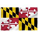 ANLEY [Fly Breeze] 3x5 Feet Maryland State Polyester Flag - Vivid Color and UV Fade Resistant - Canvas Header and Double Stitched - Maryland MD Flags with Brass Grommets 3 X 5 Ft
