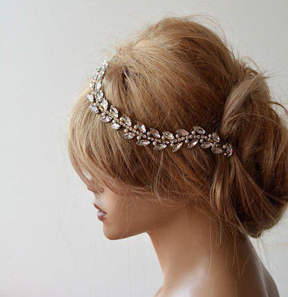 Crystal Bridal Headband, Rhinestone Headpiece, Jewelry for Wedding Hairpiece, Head Piece for Bride, Wedding Hairband, Wedding Hair Piece
