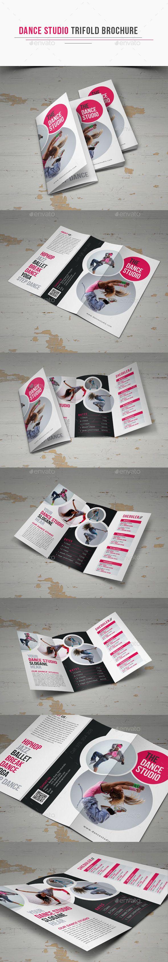 Dance Studio Trifold Brochure Template PSD