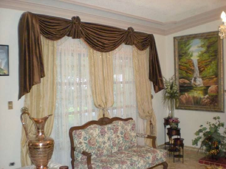 313 best images about cortinas on pinterest bay window for Disenos de cortinas