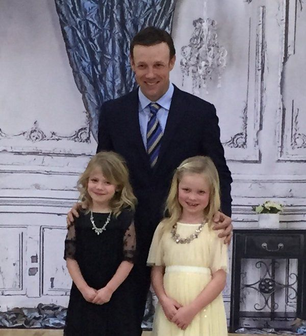 Matt Kenseth and his girls, Kaylin and Grace, father-daughter dance. Feb. 2016