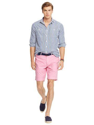 Straight-Fit Oxford Short - Shorts Men - Ralph Lauren UK