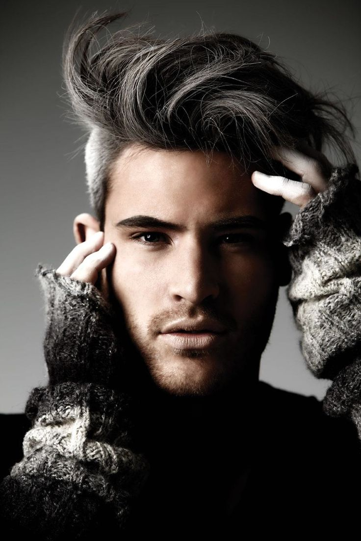 Sultry with a grey undercut. German dancer Marc Eggers. Grey can be beautiful. Dyed or by nature.