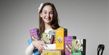 Niña exploradora rompe récord de venta de galletas