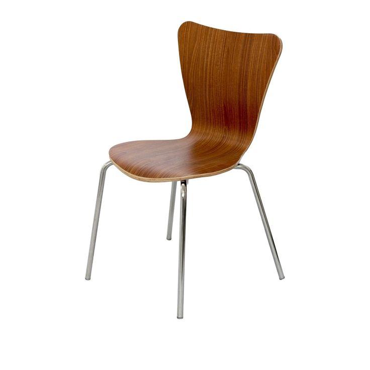 Cadeira Jacobsen com Base em Inox Mobitaly