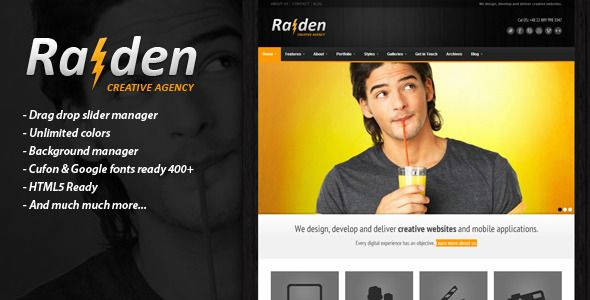 RAIDEN - Premium Wordpress Theme   http://themeforest.net/item/raiden-premium-wordpress-theme/1916633?ref=damiamio       Raiden is a premium WordPress theme with powerful admin panel. It is suitable for business, corporate, products catalogue or portfolio web sites. Whether you're a wordpress pro or just a beginner, you'll not have any problems working with this theme. Theme version: 1.1.2 – Apr 29, 2014 Features R-Panel  R-panel is a very powerful template management system. It allows you…