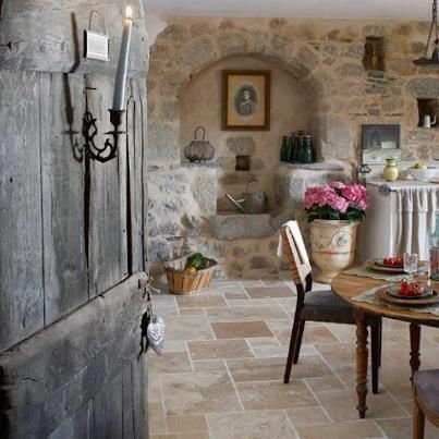 Lovely cosy stone cottage kitchen
