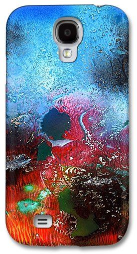 World Of Reefs Galaxy S4 Case Printed with Fine Art spray painting image World Of Reefs by Nandor Molnar (When you visit the Shop, change the orientation, background color and image size as you wish)
