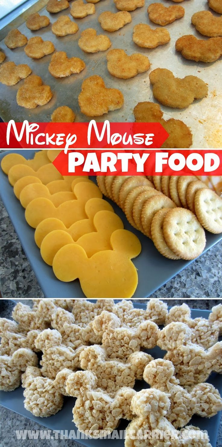 Mickey Mouse-shaped party foods! #DisneySide