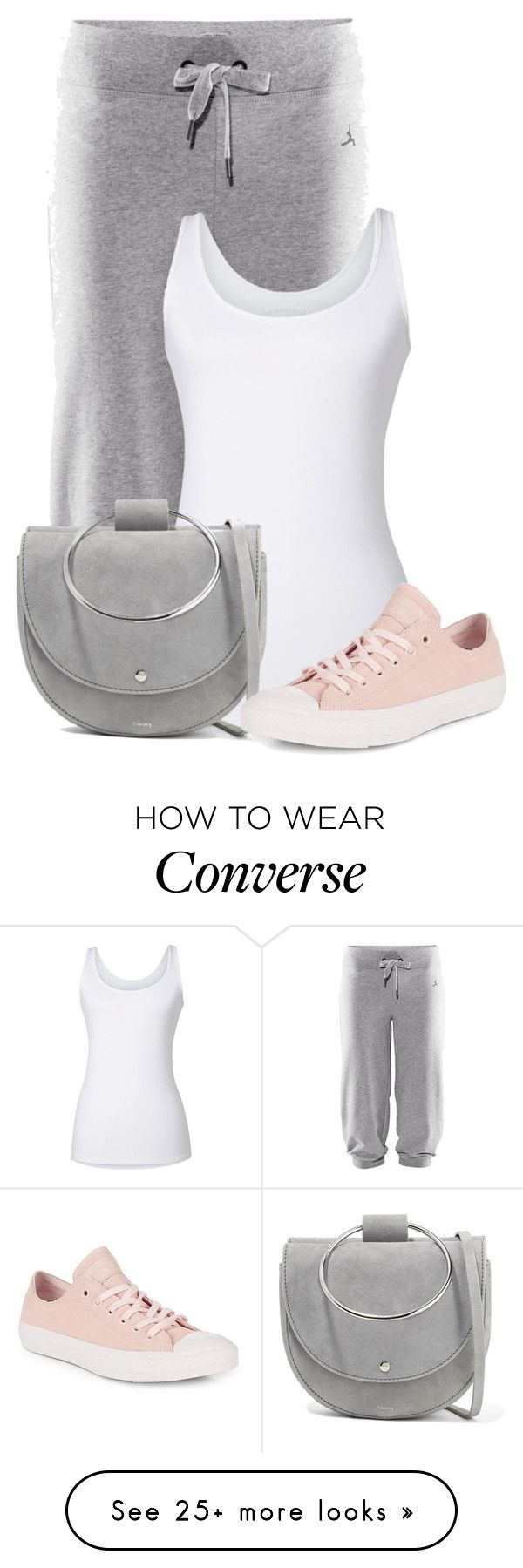 """Untitled #24364"" by nanette-253 on Polyvore featuring H&M, Theory and Converse"