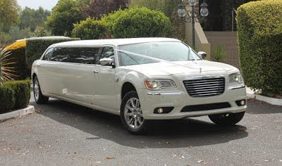 The White Chrysler Limousine comfortably holds 10 passengers in the rear cabin while having room for an extra passenger upfront with the driver. Glass ware and Red Carpet available upon request.   Off Peak 1 hour hire starts at $390