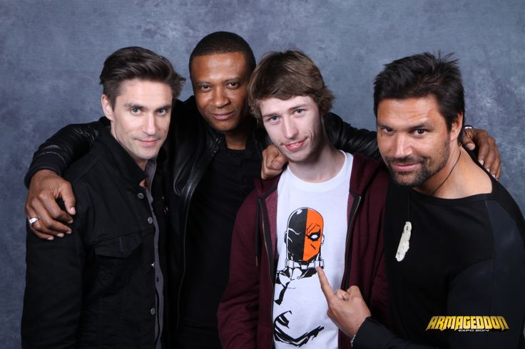 Me with Manu Bennett (Slade Wilson/Deathstroke), David Ramsey (John Diggle) and Michael Rowe (Floyd Lawton/Deadshot) from the TV series Arrow.