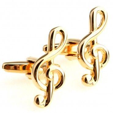 1 pair clef cufflinks,treble clef shaped cufflinks,silver color,cute cufflinks