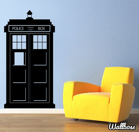 Doctor Who Tardis Wall Sticker  Police Box enfants mur par Wallboss