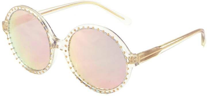 Heidi London - Rose Gold Mirrored Studded Sunglasses