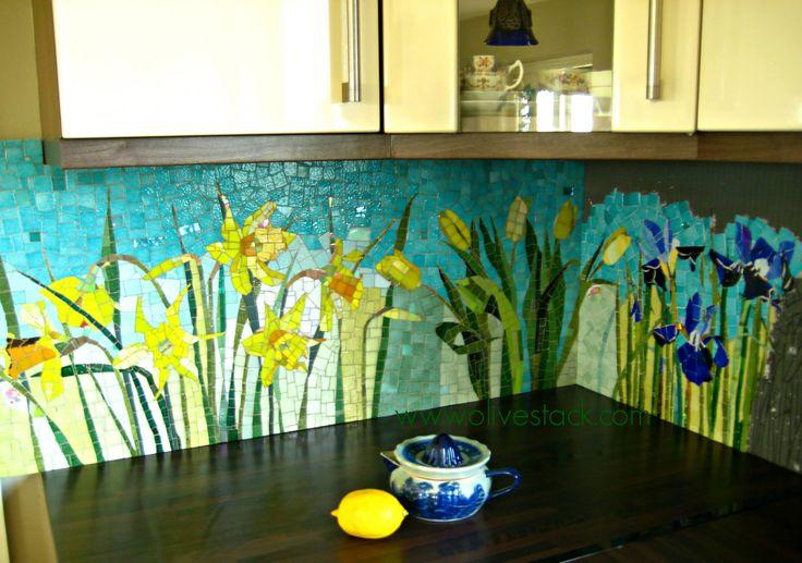'The Four Seasons' Mosaic Kitchen Backsplash (Work in Progress)