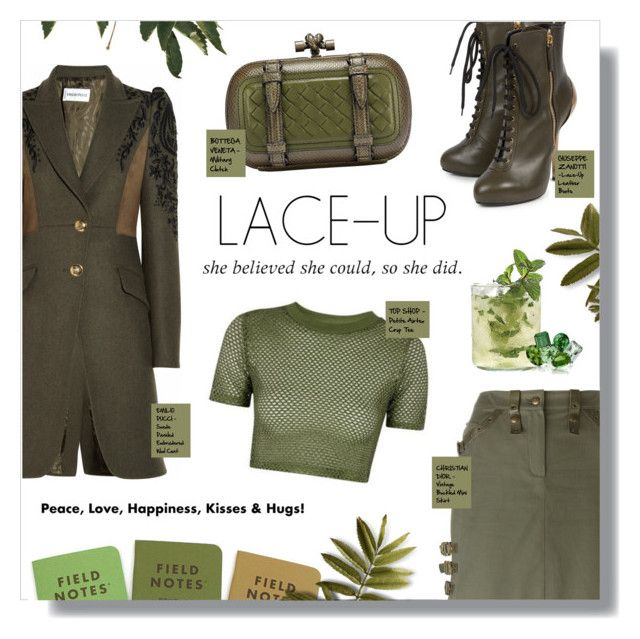 """""""LACE IT UP"""" by larissa-takahassi ❤ liked on Polyvore featuring Emilio Pucci, Giuseppe Zanotti, Christian Dior and Topshop"""