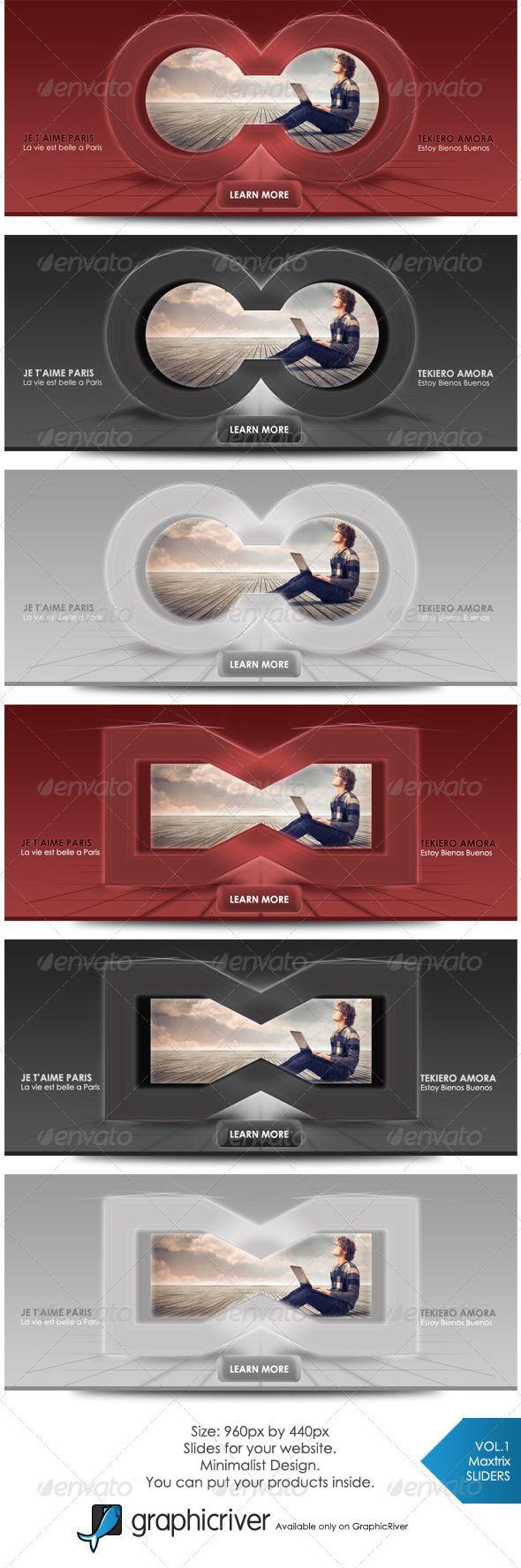 Design banner minimalist - Maxtrix Web Sliders Vol1 Web Banner Designweb