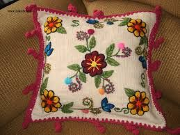 flores bordados en lana - Buscar con Google