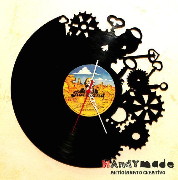 Orologio in disco di vinile 33 giri di HandyMadeItalia su Etsy