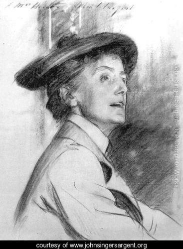 Portrait of Dame Ethel Smyth - John Singer Sargent - www.johnsingersargent.org