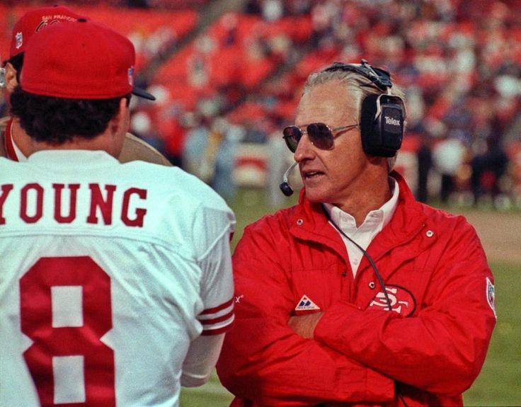 Quarterback Steve Young and Head Coach George Seifert
