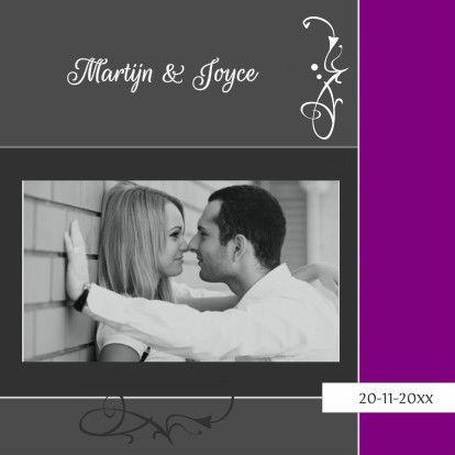 Grijspaarse foto trouwkaarten - Trouwkaarten - Kaartje2go