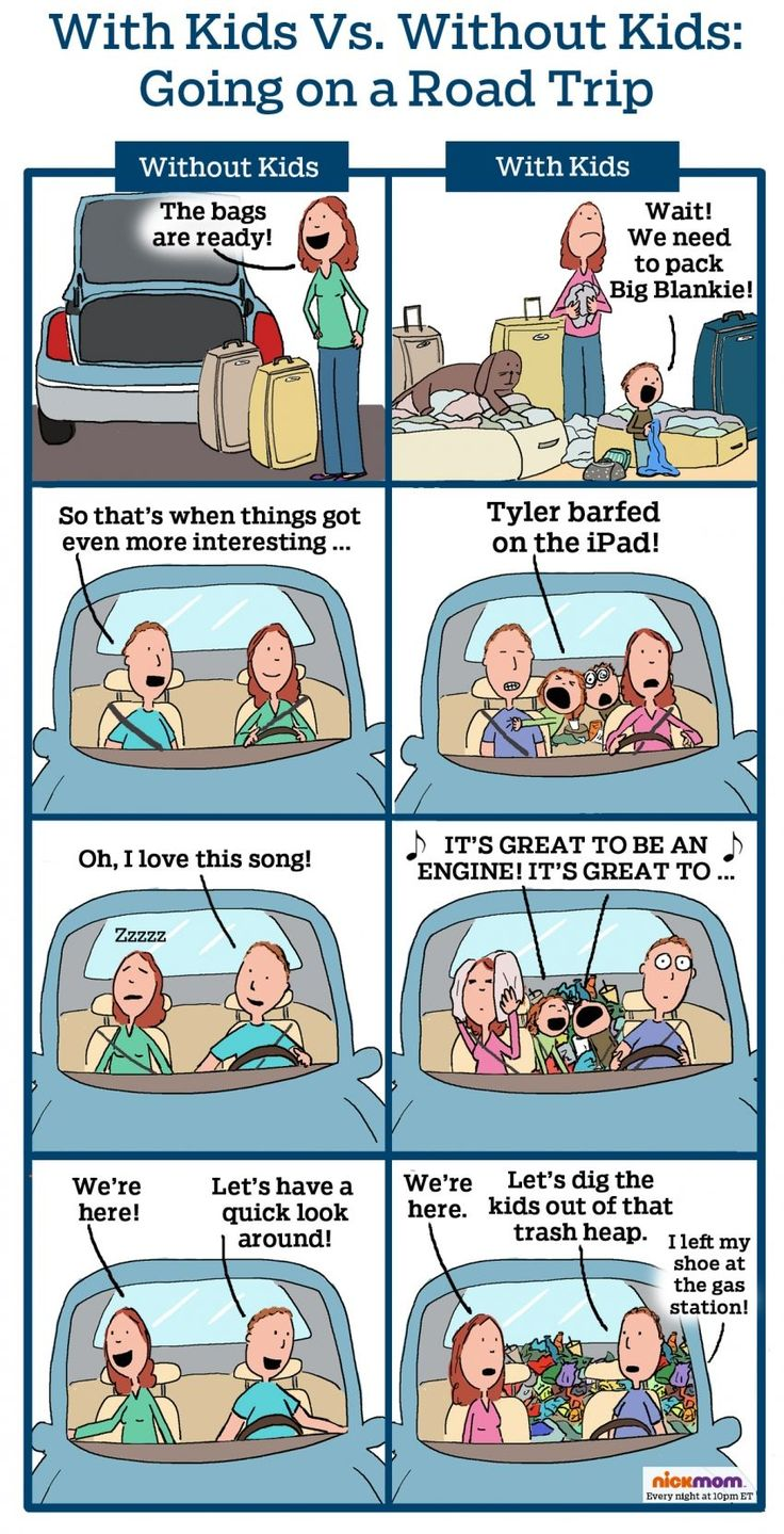With Kids vs. Without Kids: Road Trip! | More LOLs & Funny Stuff for Moms | NickMom