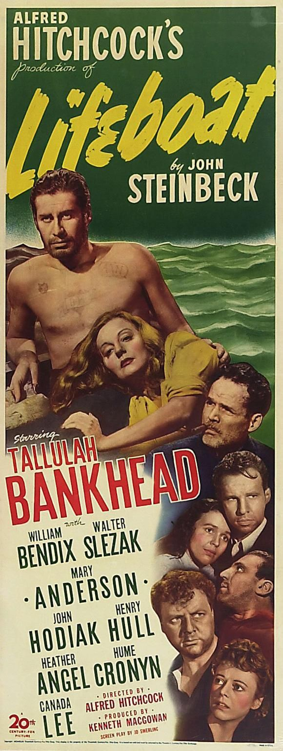 #Lifeboat, movie poster insert, 1944.
