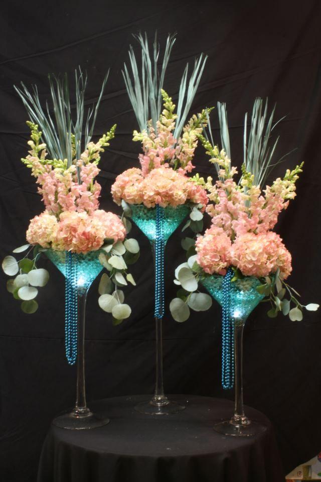 97 best tall centerpiece images on pinterest for Flower arrangements for sweet 16