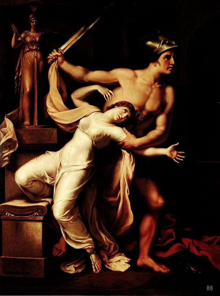 Ajax and Cassandra. 1806. Johann Heinrich Wilhelm Tischbein. German. 1751-1829. oil on canvas.