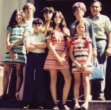 Madonna (in the middle) and her family ~ 1970