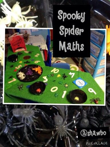 Spider maths. Counting and number recognition.