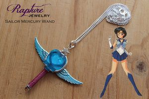 Sailor Mercury Wand Pendant Inspired by Sailor Moon