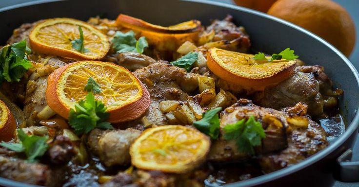 Cuisine-à-Vous - Kip à l'orange met Marokkaanse toets