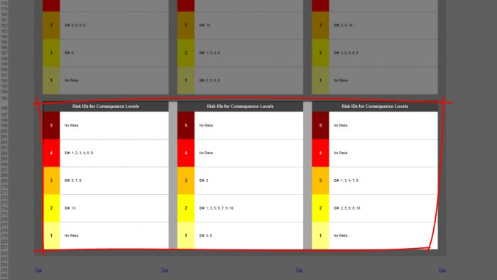 Risk Template in Excel - Risk Heat Maps or Risk Matrix: for Multiple Risks, IDs for Consequence