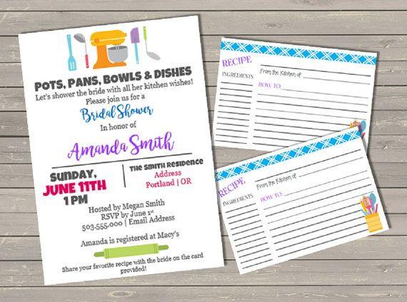 Kitchen Bridal Shower Invitation Printable By PapersAndplenty