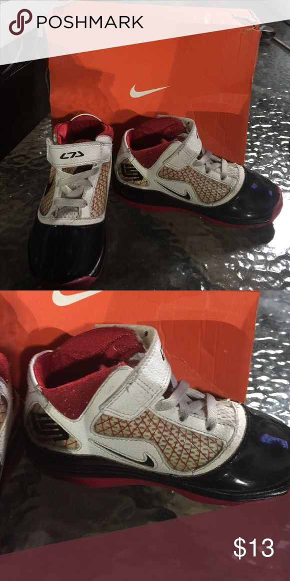 Lebron 7 TD kids Kids sneakers/ red white and black / lebron lebron nike  Shoes Sneakers