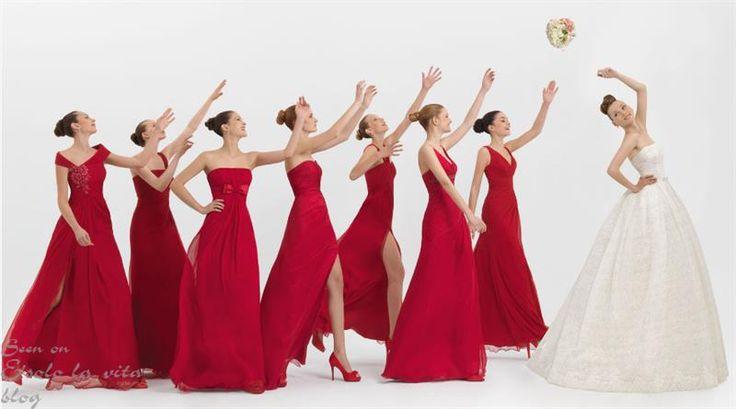 Красное платье для подружек невесты