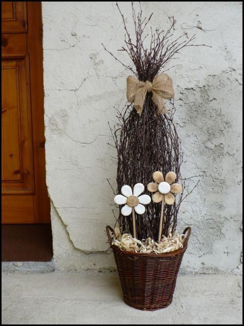 This is a neat idea but I would put real flowers (either yellow or purple for…