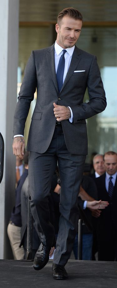 an expertly tailored suit.
