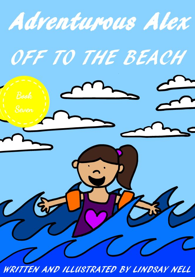 Adventurous Alex Off to the Beach. Beginner Readers, Rhyming Book, Great for kids aged 1 to 5. Found on Amazon.