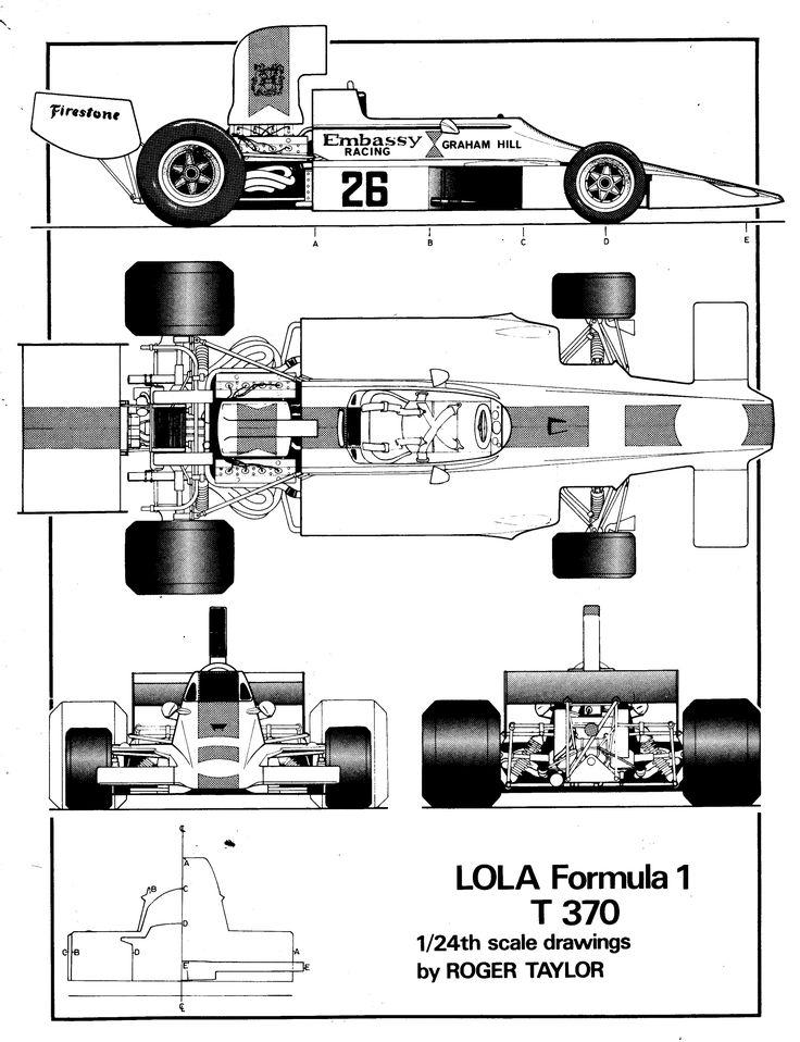 Lola T370 1974 F 1 Blueprint Pinterest Car