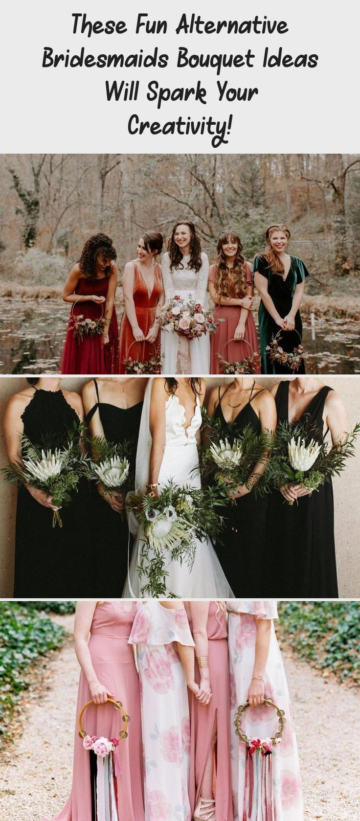 These Fun Alternative Bridesmaids Bouquet Ideas Will Spark Your Creativity! - Green Wedding Shoes #MixAndMatchBridesmaidDresses #BridesmaidDressesBeach #NeutralBridesmaidDresses #AfricanBridesmaidDresses #JuniorBridesmaidDresses