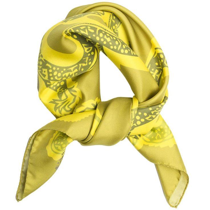 Carré Soie Dragon vert#fashion#accessoire#femme#foulard#textile intelligent#fleurs de Bach#scarf#bach flowers#emotis
