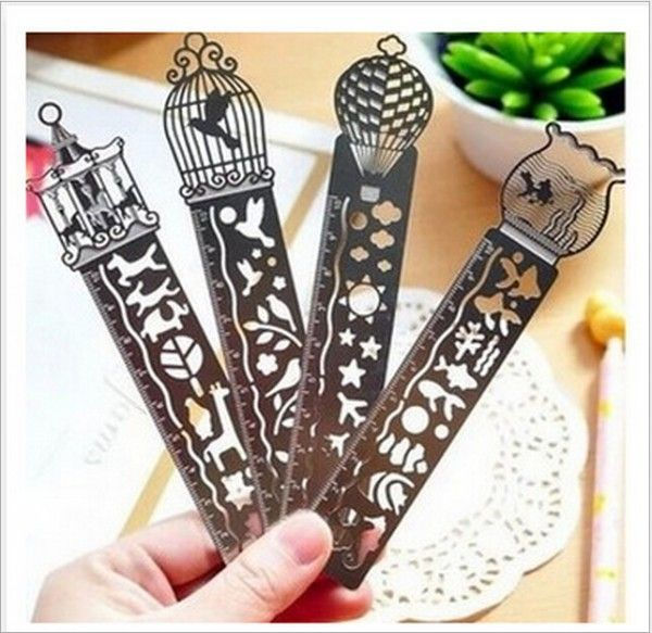 1pcs Creative metal straight ruler bookmark Hollow Ultra thin rulers Korea stationery office school supplie-in Rulers from Office & School Supplies on Aliexpress.com | Alibaba Group