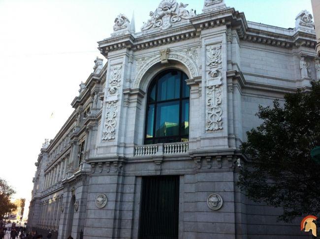 banco deel edificio del banco de espaa es uno de los grandes edificios de madrid