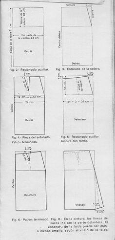 FALDAS Hay infinidad de modelos, aunque en realidad, se agrupan en rectas y con vuelo. PATRÓN TIPO DE LA FALDA RECTA Las medidas q...
