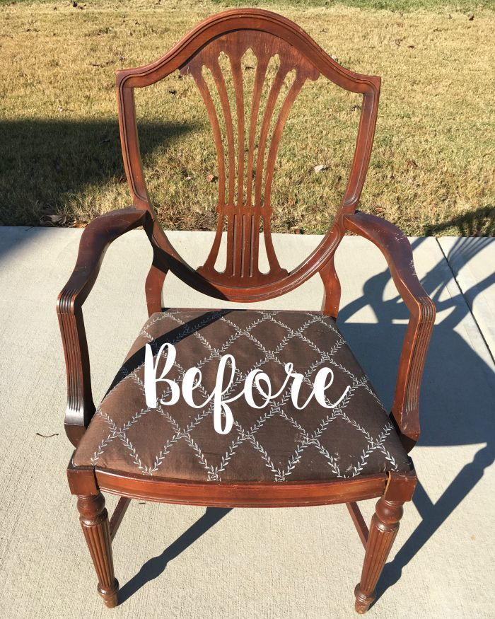 Raw Silk Painted Master Bedroom Chair